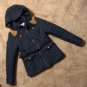 Quilted jacket with hoodies